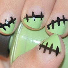Halloween Manicure 'Frankenstein'