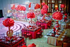 Kehoe Designs — Events Social A Room A Bloom Café Brauer meets girl power at this rosy mitzvah. Boasting a modern take on the classic rose where the infusion of pink packs a punch.