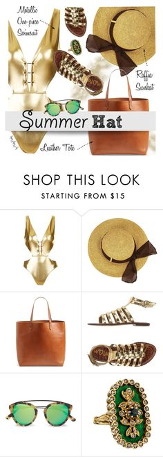 """Top it off: Summer Hats"" by pinkypanky ❤ liked on Polyvore featuring Topshop, Madewell, Sam Edelman, Westward Leaning and summerhat"