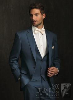 Slate Blue 'Allure Men' Tuxedo from http://www.mytuxedocatalog.com/catalog/rental-tuxedos-and-suits/C1003-Slate-Blue-Allure-Tuxedo/