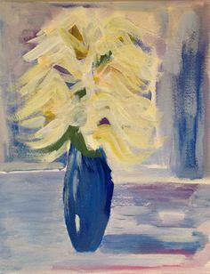 Acrylic on paper 11x 14 floral still life on Etsy, $35.00