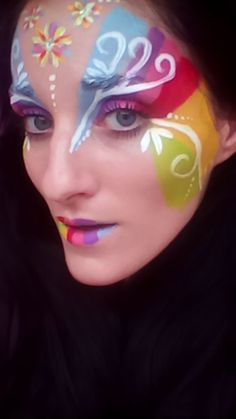 Face painting rainbow