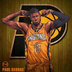 Paul George Flexin' Illustrastion