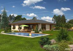 Dřevostavba 5+kk s názvem Bungalov Malorka. Středně velký rodinný dům s užitnou plochou 120m2. Více na http://happybuilding.cz/katalog-drevostaveb/malorka/