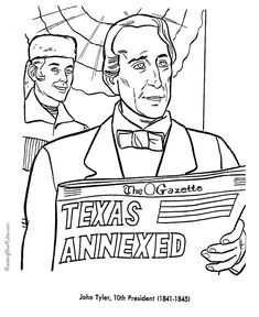 Free Printable President John Tyler Coloring Pages