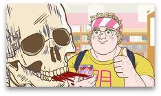 Gaikotsu Shotenin Honda-san (Skeleton Bookstore Employee Honda) Official Anime Screenshot