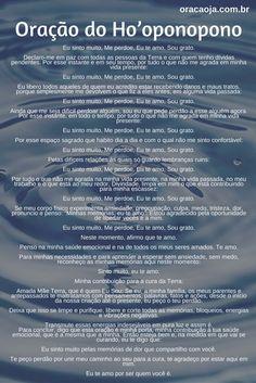 Oração do Ho'oponopono #hoponopono #oração Yoga Mantras, Vedic Mantras, Reiki, Zen Yoga, Yoga Meditation, Oponopono Mantra, Spiritual Health, Good Energy, Peace Of Mind