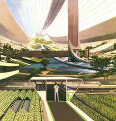 Space colony concept, from another future that didn't happen