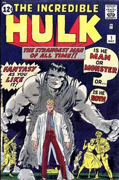 Marvel comic, cover for The incredible Hulk