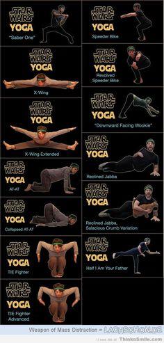 Wine + Star Wars Yoga = Rugburn