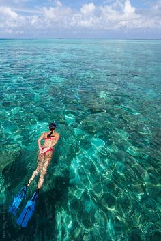Woman snorkeling in the Maldives by Felix Hug - Snorkelling, Maldives - Stocksy United Romantic Vacations, Romantic Travel, Dream Vacations, Italy Destinations, Honeymoon Destinations, Places To Travel, Places To Visit, Visit Maldives, Countries To Visit