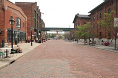 I love the distillery district in Toronto. It would be a great spot to take engagement photos. Distillery, Photo Credit, Engagement Photos, Toronto, Street View, Canada, Spaces, Photography, Photograph