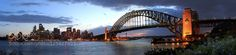 Sydney Harbour Panorama Sydney harbour bridge and the opera house at sunset