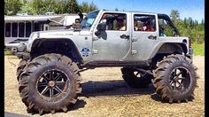 Tractor tires on a Jeep,Americans we're just Fucking Basses. Jeep Tj, Jeep Wrangler Rubicon, Jeep Wrangler Unlimited, Jeep Cars, Jeep Truck, 4x4 Trucks, Rc Cars, Extreme 4x4, Badass Jeep
