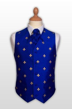 Mr Fleur-de-lys - silk waistcoat made to measure from waistcoatdirect.co.uk Available in 4 colours