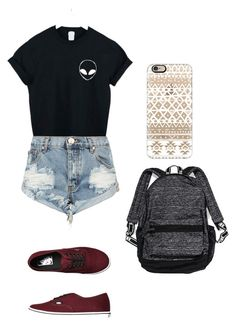 """Untitled #113"" by volleyballstar43 ❤ liked on Polyvore featuring WithChic, OneTeaspoon, Vans, Victoria's Secret and Casetify"