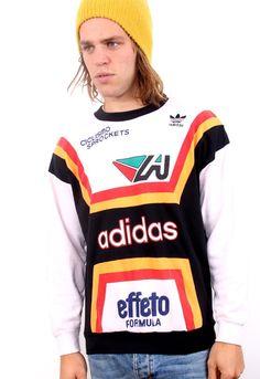 Vintage 80s ADIDAS Ciclismo Sprockets AVVENTURA Racing CLUB Sweatshirt $89