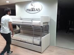 Bunk bed sofas and beds on pinterest for Proteas sofa bunk bed