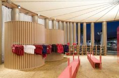 Shigeru ban Camper pavillion - interior