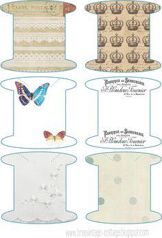 Embroidery floss bobbins to print