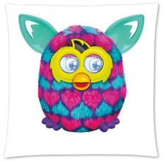 Custom Furby With A girl Fashion Style Cotton Zippered Linen Decorative Single Pillow Case Standard Size 45×45 cm(Twin Sides)