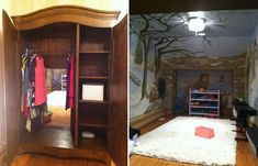 Child's Bedroom with a secret passage to Narnia!