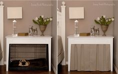 Image result for diy dog crate chest of drawers Dog Crate Table, Diy Dog Crate, Dog Crate Furniture, Dog Crate Cover, Crate Bench, Diy Dog Kennel, Diy Dog Bed, Dog Beds, Dog Kennels