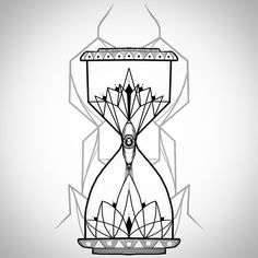 Geometrical ornamental hourglass