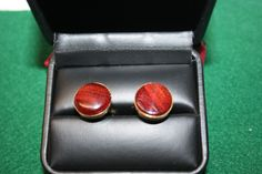 Handcrafted Bloodwood Hardwood 24 ct Gold Plated Cuff Links by Witmer Enterprises, $21.99 at witmerenterprises.com and also @Etsy