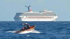 No vacation here! Carnival cruise ship tugging to the U.S. - - http://www.PaulFDavis.com global health coach and travel consultant (info@PaulFDavis.com)