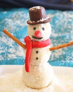 ¡Realiza unos hermosos y deliciosos muñecos de nieve! #Christmas