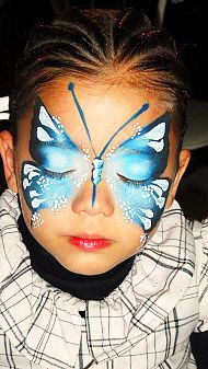 Cute Butterfly Face Paint