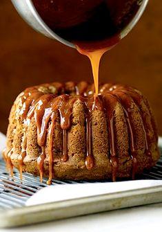 Trisha Yearwood's Fresh Apple Cake with Caramel Glaze (Bundt), Desserts, Cakes Apple Cake Recipes, Dessert Recipes, Apple Cakes, Cookie Recipes, Dessert Ideas, Fall Desserts, Just Desserts, Thanksgiving Desserts, Caramel