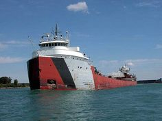 One of the many freighters on the great Lakes