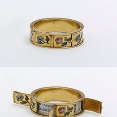 The way this ring opens up with a hidden message underneath. | 40 Vintage Wedding Ring Details That Are Utterly To Die For