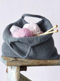 DIY knit tote bag