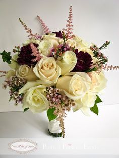 wedding bouquets, bridesmaids bouquet, wine, sangria, pink, wedding | Designed by Perfect Princess Events