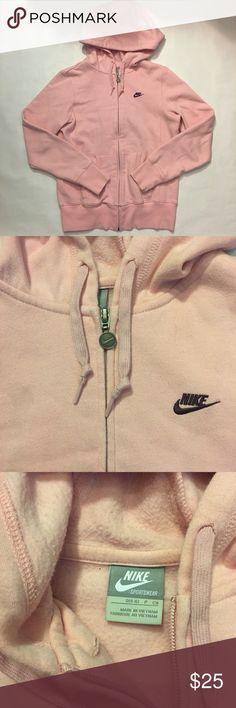 Nike hoodie Baby pink Nike zip up hoodie. Size small Nike Tops Sweatshirts & Hoodies