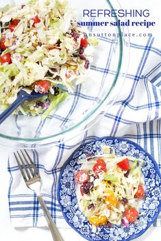 Make this 7 ingredient easy summer salad recipe for fun lunches or simple suppers. Tosses together in just minutes and is full of texture and flavor!