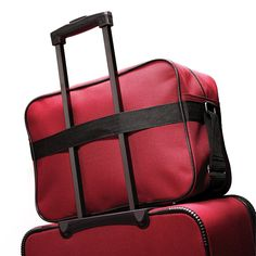 American Tourister Fieldbrook II 2 Piece Set in the color Red/Black.