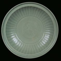 A large Longquan Celadon porcelain plate, China, Ming Dynasty, 16th century.PhotoCambi Casa dAste