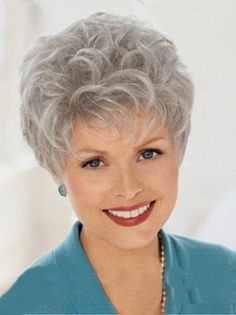 All kinds of top quality human hair Wigs for Grey Wig Women on line now.Buy Style 8 Inches Wavy Capless Grey Short Hair Wigs at Wigsdo Grey Curly Hair, Short Grey Hair, Grey Wig, Short Hair Wigs, Short Hair Cuts For Women, Curly Hair Styles, Short Stacked Hair, Curly Wigs, Gray Hair