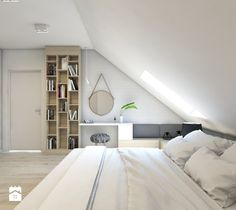 House No. House No. 7 on Behance. Attic Bedroom Designs, Attic Bedrooms, Bedroom Bed Design, Bedroom Styles, Bedroom Decor, Loft Room, Bedroom Loft, Studio Floor Plans, Loft Interiors