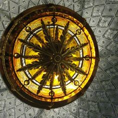 Stained glass dome details center realized by France Vitrail International Paris