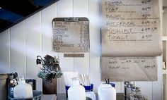 Menu boards from the Stable Cafe Malcom Davis Architecture