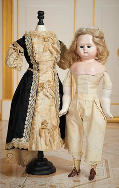 Cotillion - The Susan Whittaker Collection : 315 German Paper Mache Doll with Original Costume