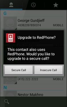 RedPhone provides end-to-end encryption for your calls, securing your conversations so that nobody can listen in.