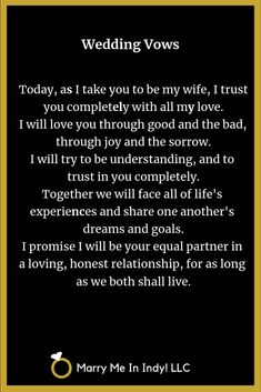 Wedding Vow Ideas and Inspiration with PDF's Wedding Vows Examples, Best Wedding Vows, Funny Wedding Vows, Vow Examples, Wedding Ceremony, Dream Wedding, Wedding Ideas, Wedding Stuff, Wedding Planning