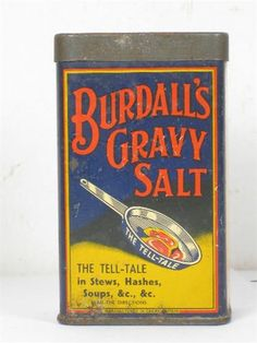 Old Tin  Burdall's Gravy Salt Image 4