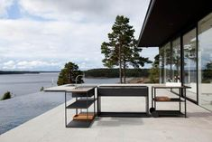 Designed by Swedish interior architects for Röshults, the Garden Outdoor Kitchen is meant to accompany one of their outdoor grills and can be situated anywhere. See 10 Easy Pieces: Outdoor Kitchen Workstations on Gardenista for similar picks. Outdoor Gardens, Indoor Outdoor, Outdoor Living, Outdoor Decor, Nordic Design, Küchen Design, Design Shop, Garden Furniture, Outdoor Furniture